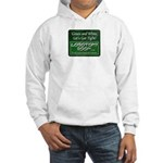 Green and White Hoodie Sweatshirt