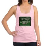Green and White Racerback Tank Top