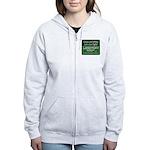Green and White Zipped Hoody