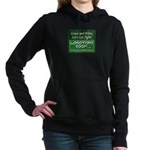 Green and White Women's Hooded Sweatshirt