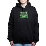 Green and White Women's Hooded Sweatshirt