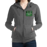 Green and White Women's Zip Hoodie