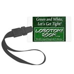 Green and White Large Luggage Tag