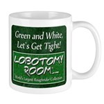 Green and White Mugs