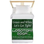 Green and White Twin Duvet