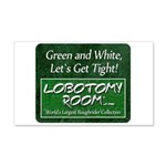 Green and White Decal Wall Sticker