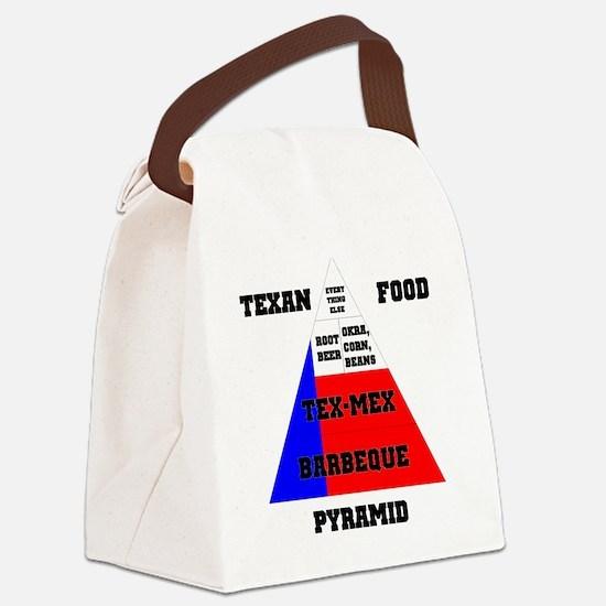 Texas Food Pyramid Kids Canvas Lunch Bag