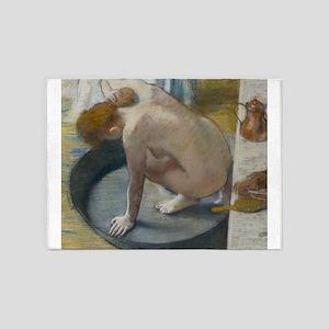 The tub by Edgar Degas 5'x7'Area Rug