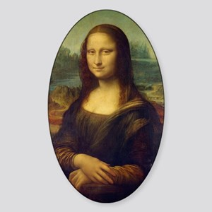 Mona Lisa ( La Joconde) Sticker (Oval)