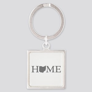 Ohio Home Square Keychain