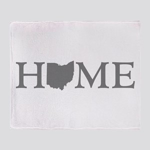 Ohio Home Throw Blanket