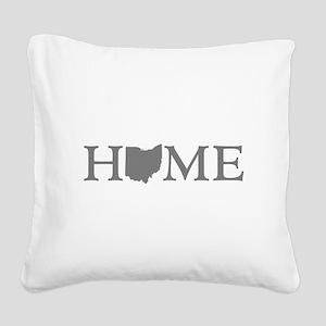 Ohio Home Square Canvas Pillow