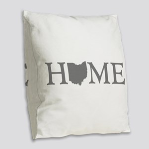 Ohio Home Burlap Throw Pillow