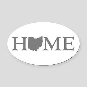 Ohio Home Oval Car Magnet