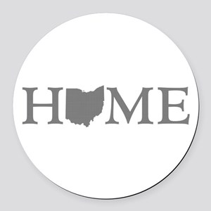 Ohio Home Round Car Magnet