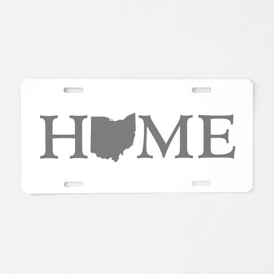 Ohio Home Aluminum License Plate