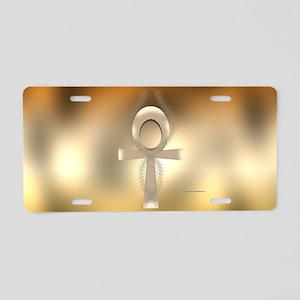 Sand Ankh Aluminum License Plate