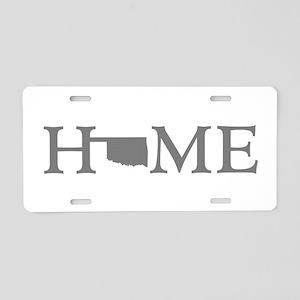 Oklahoma Home Aluminum License Plate