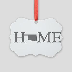 Oklahoma Home Picture Ornament