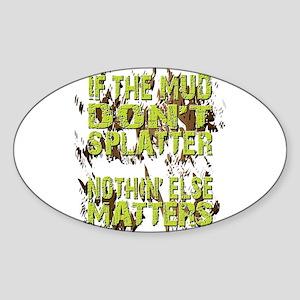 Mud Splatter Boggin Design Sticker