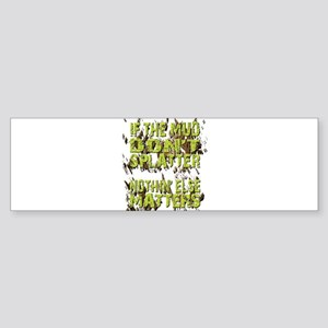 Mud Splatter Boggin Design Bumper Sticker