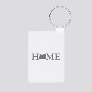 Oregon Home Aluminum Photo Keychain