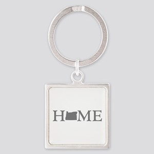 Oregon Home Square Keychain