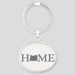 Oregon Home Oval Keychain