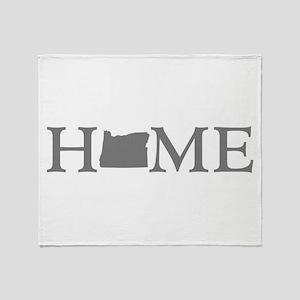 Oregon Home Throw Blanket
