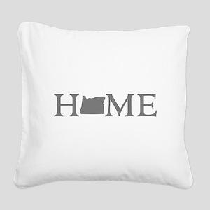 Oregon Home Square Canvas Pillow