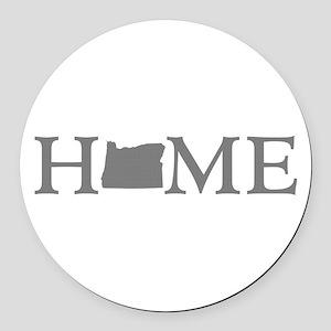 Oregon Home Round Car Magnet