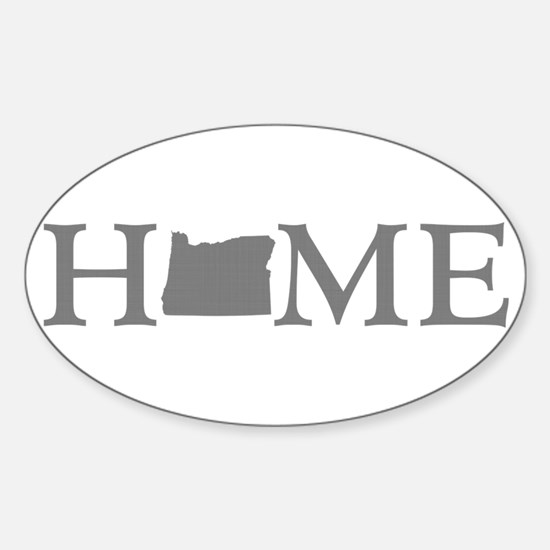 Oregon Home Sticker (Oval)