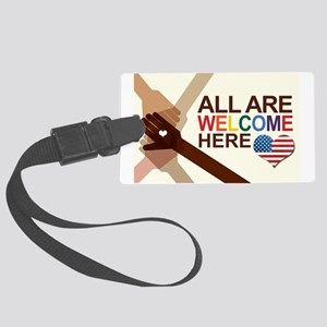 All Are Welcome Here Large Luggage Tag