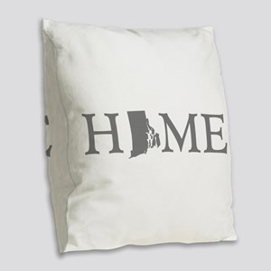 Rhode Island Burlap Throw Pillow