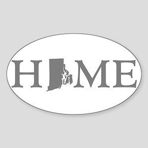 Rhode Island Sticker (Oval)