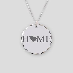 South Carolina Necklace Circle Charm