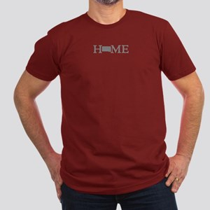 South Dakota Men's Fitted T-Shirt (dark)