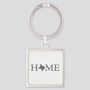 Texas Home Square Keychain