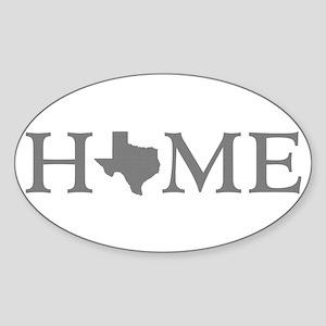 Texas Home Sticker (Oval)