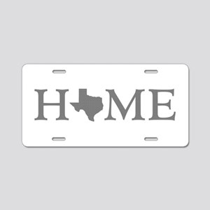 Texas Home Aluminum License Plate