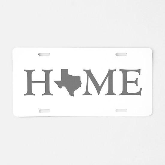 Texas Home Aluminum License Plate