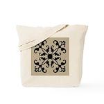 Art Deco Floral Geometric Tote Bag