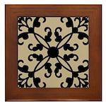 Art Deco Floral Geometric Framed Tile