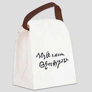 William Shakespare's Signature Canvas Lunch Bag