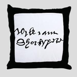 William Shakespare's Signature Throw Pillow