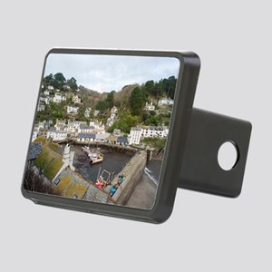 View of Polperro fishing v Rectangular Hitch Cover