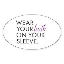 Wear Your Faith Sticker (Oval 10 pk)