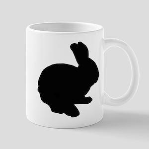 Black Silhouette Easter Bunny Mugs