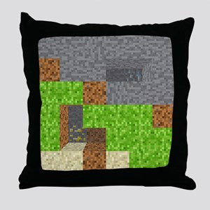 Pixel Art Play Mat Throw Pillow