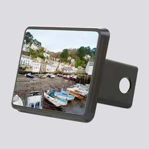 Fishing village of Polperr Rectangular Hitch Cover